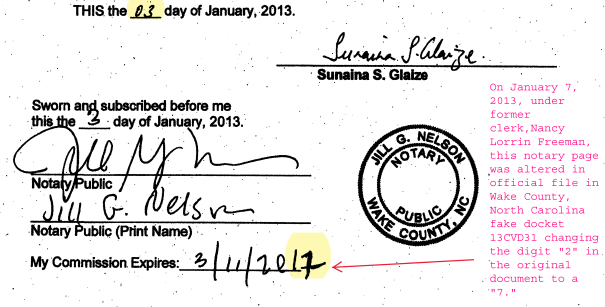 Alice Stubbs OF Tharrington Smith LLP, RALEIGH NC and Wake County District Attorney Exposed in SCAM docket 13 CVD31