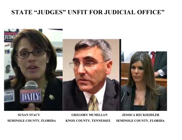 JUDGE Susan Stacy, Judge Gregory McMillan, Judge Jessica Recksiedler