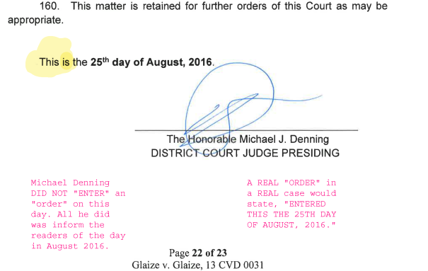 Michael Denning FORGES a document. Denning Exposed!