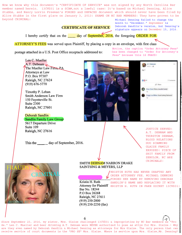 Smith Debnam NARRON DRAKE SAINTSING & MYERS, LLP EXPOSED! NEXT STEP PSYCHOLOGY EXPOSED! Carolyn Pender Roche EXPOSED! Kristin Ruth EXPOSED!