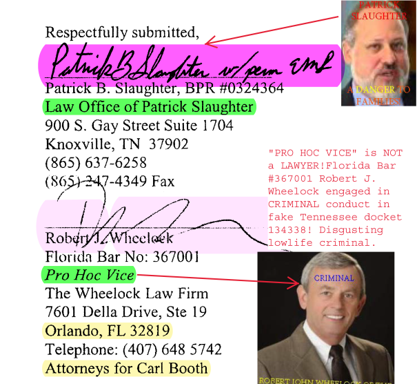 Robert Wheelock of the Wheelock Law Firm, LLC  EXPOSED!