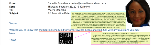 Camellia Saunders Knox County TN ATTORNEY EXPOSED